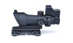 ACOG 4×32 Scope Red/Green Reticle with QD Mount + Mini Red Dot  - AO- 5321 - BK