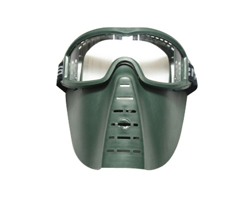 Skirmish Mask - Green Color with Clear Lens A135P-1