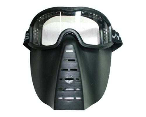 Skirmish Mask - Black Color with Clear Lens A135P-1